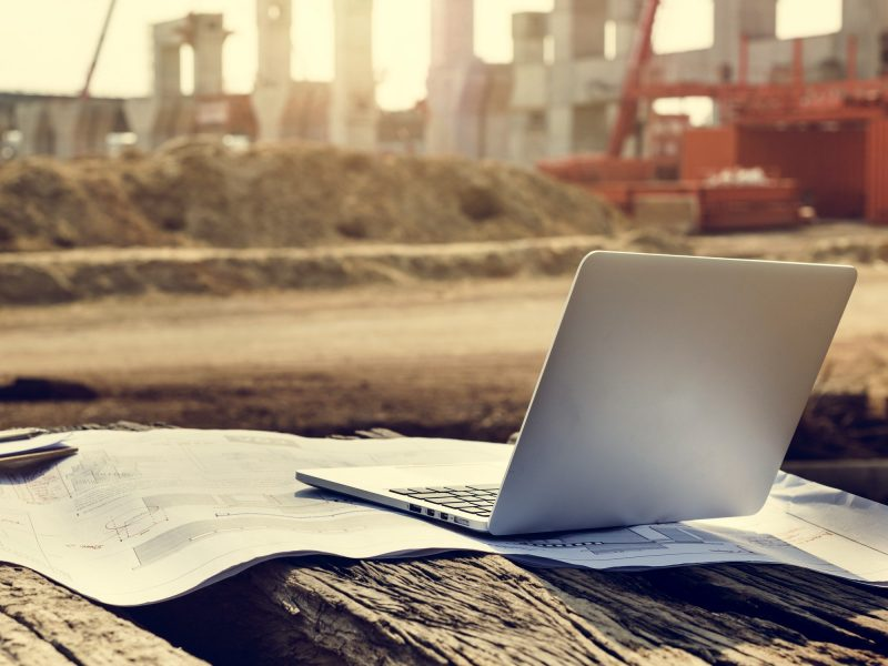 Construction Career Structure Inspector Concrete Concept